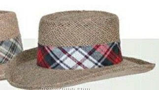 Plaid Hatband