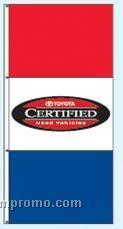 Stock Double Face Dealer Rotator Drape Flags - Toyota Certified