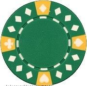 Tri Color Diamond Suited Poker Chips