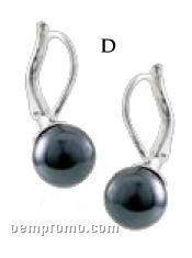 Carolee Black Pearl Drop Earrings