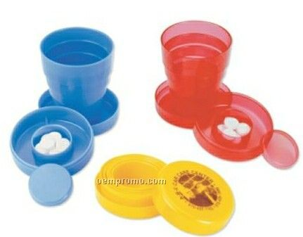 Collapsible Cup W/ Pill Holder