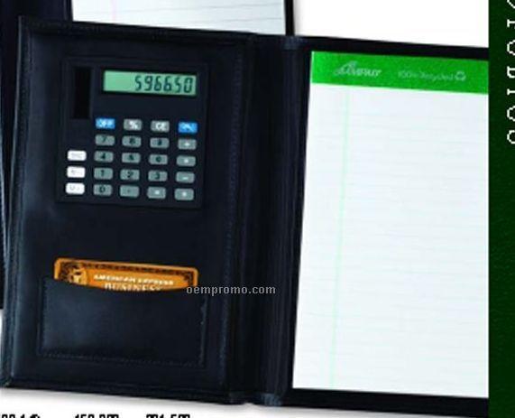 Junior Business Portfolio W/ Calculator - Regency Cowhide Leather