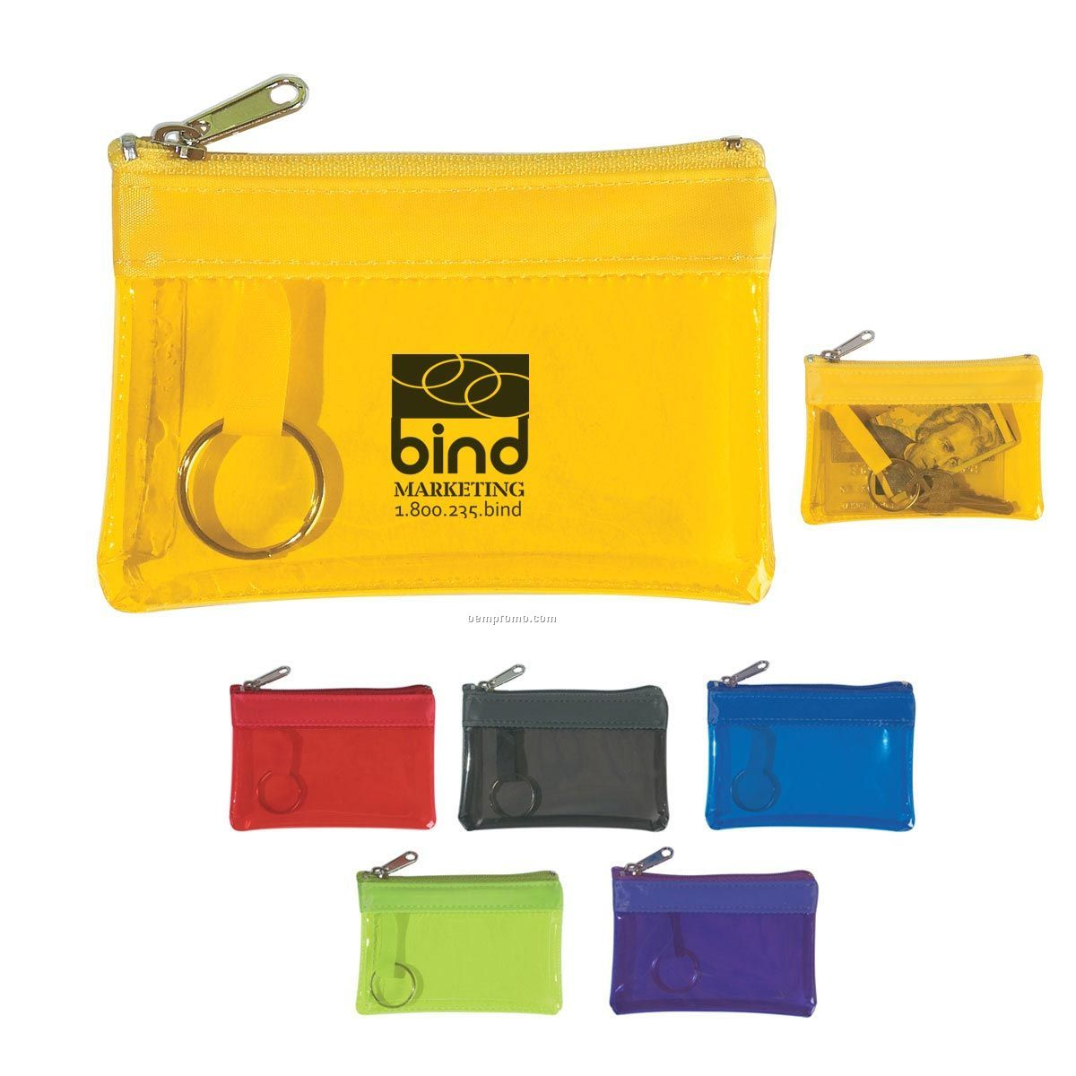 Translucent Zippered Coin Pouch (Blank)