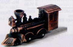 Early American Bronze Metal Pencil Sharpener - Old Time Locomotive
