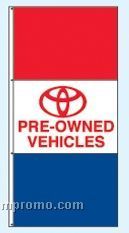 Stock Double Face Dealer Rotator Drape Flags - Toyota Pre-owned