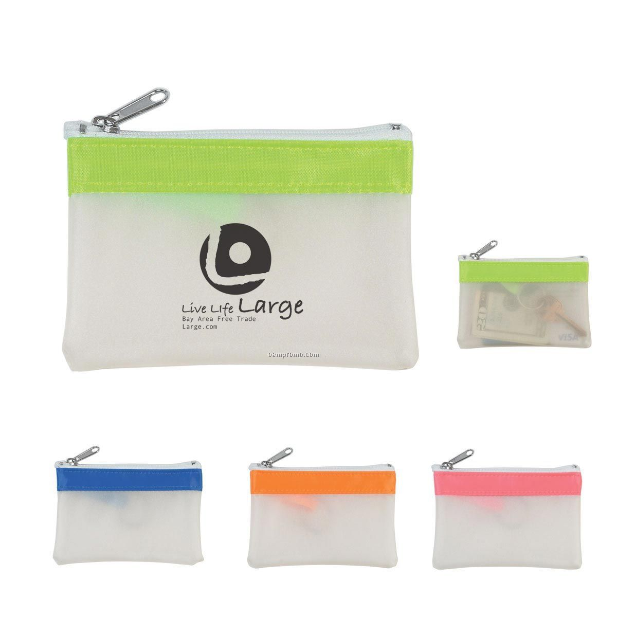 Zippered Coin Pouch (Pad Printed)