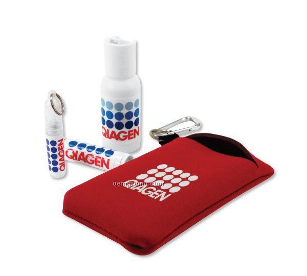 Carry-a-long Kit W/ Sunscreen, Hand Sanitizer & Lip Balm