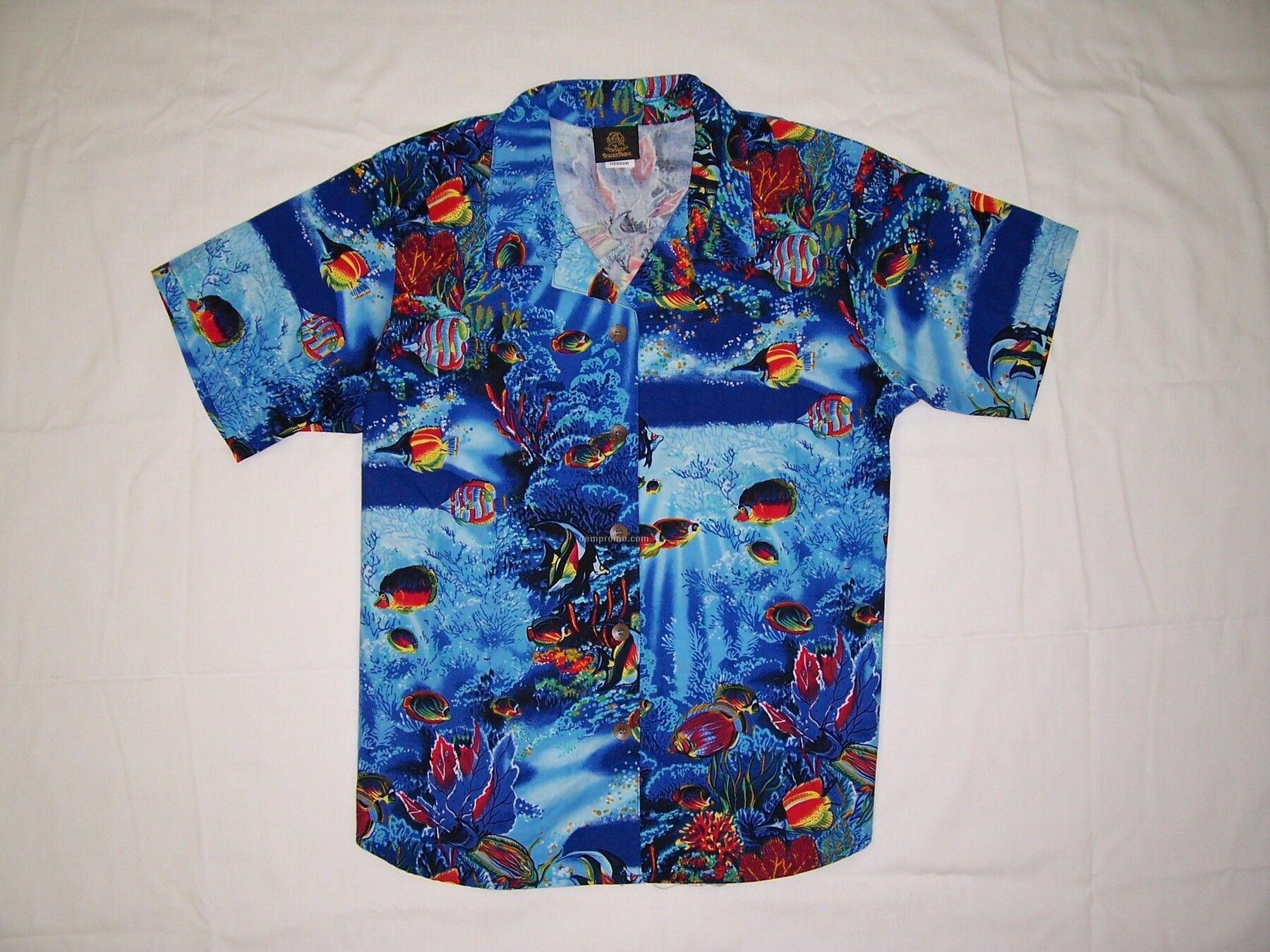 Men's Camp Shirt Sea Life (Xs-xl)