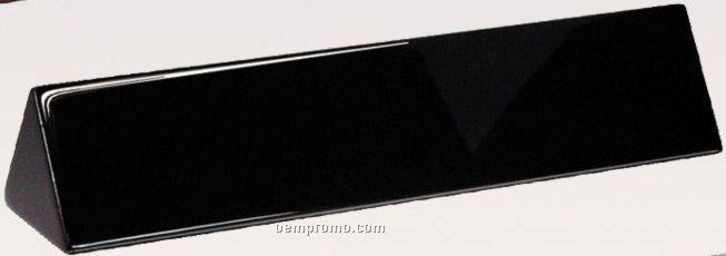 "Name Plate Wedges - Black Marble - 10"""