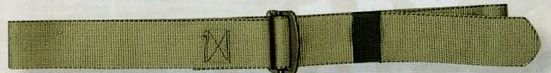 "Olive Green Drab Adjustable Nylon Battle Dress Uniform Belt (54"")"
