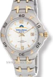 Pedre Women's Two Tone Zenith Metal Watch W/ Stainless Steel Bracelet