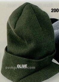 Yupoong Cuff Knit Beanie W/ Visor