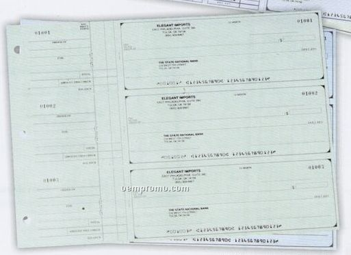 3 To A Page Check Blue General Use Checks