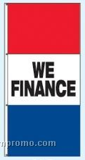 Double Face Stock Message Rotator Drape Flags - We Finance