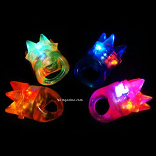 Flashing Star Spike Light Up Ring