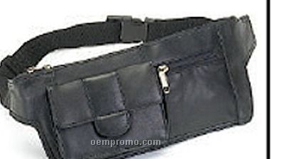 Leather Rectangular Waist Bag