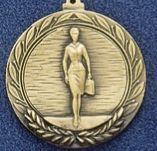 """1.5"""" Stock Cast Medallion (Saleslady)"""