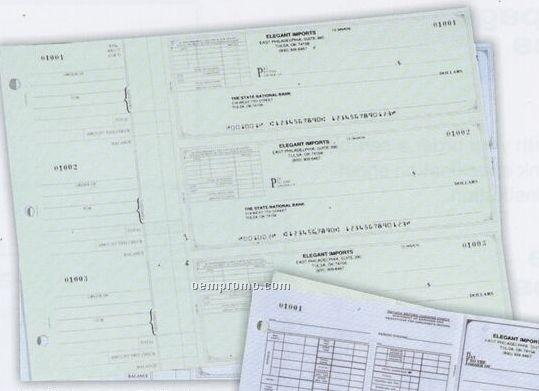 3 To A Page Check Green Disbursement Checks