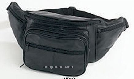 Jumbo Size Leather Waist Pouch