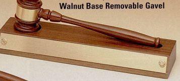 Parliament Series American Walnut Base W/ Removable Walnut Gavel