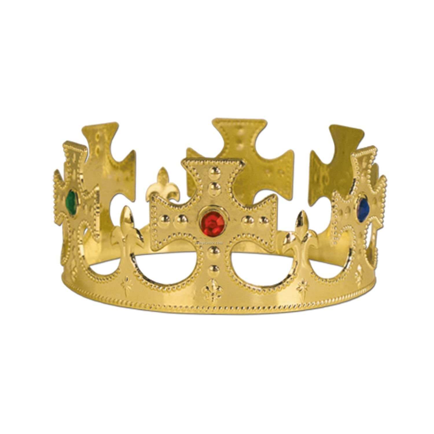 Plastic Jeweled Kings Crown