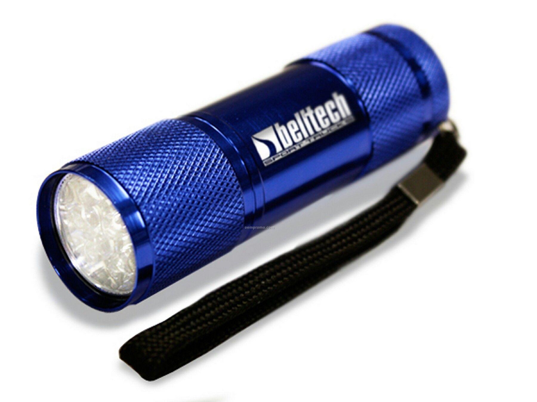 Super 9 LED Flashlight Blue