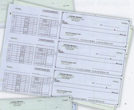 3 To A Page Check Green Payroll Checks