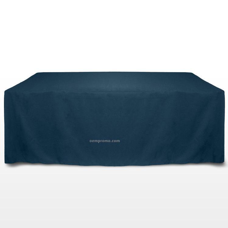 8' Solid Color Poly Poplin Table Throw - Cornsilk