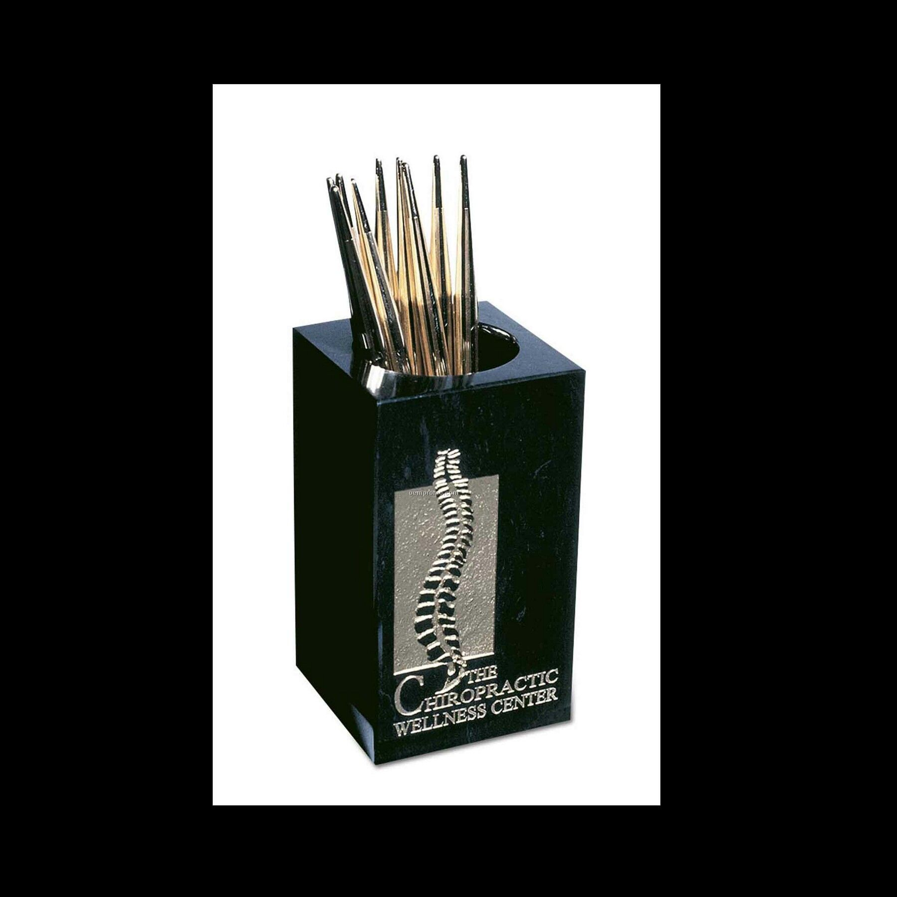 Blank Pen/Pencil Holder - Jet Black