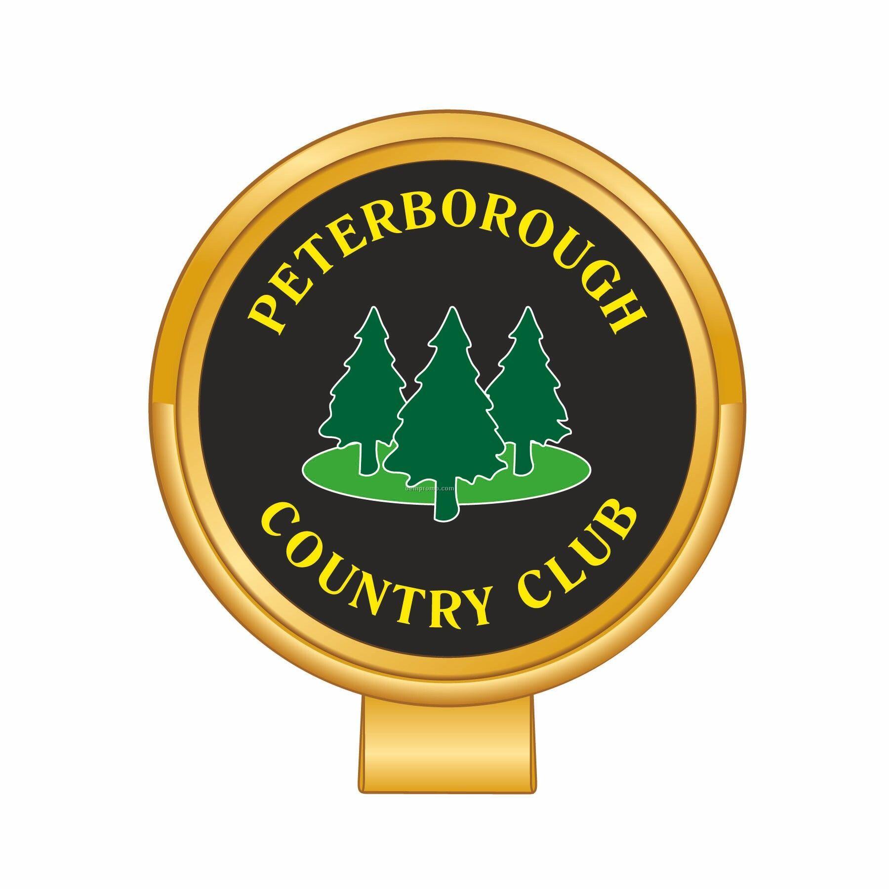 Gold Metal Golf Hat Clip & Ball Marker