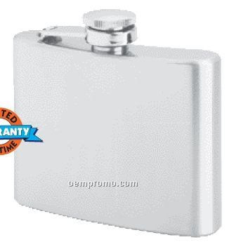 Maxam 4 Oz Stainless Steel Hip Flask With Screw Down Cap