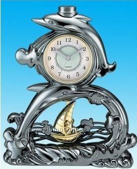 Stylized Dolphin Clock