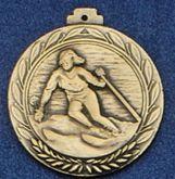 """2.5"""" Stock Cast Medallion (Ski/ Female)"""