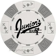Custom Diamond Suited Hot Stamped Poker Chips