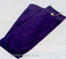 2 Ply Tri Fold Velour Terry Golf Towel