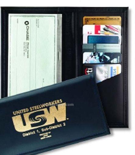 Checkbook Credit Card Companion - Top Grain Cowhide