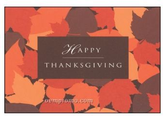 Happy Thanksgiving Leaves Holiday Greeting Card (After 10/01/11)
