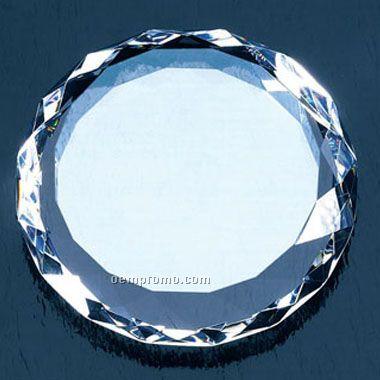 Round Gem-cut Paperweight (Screened)