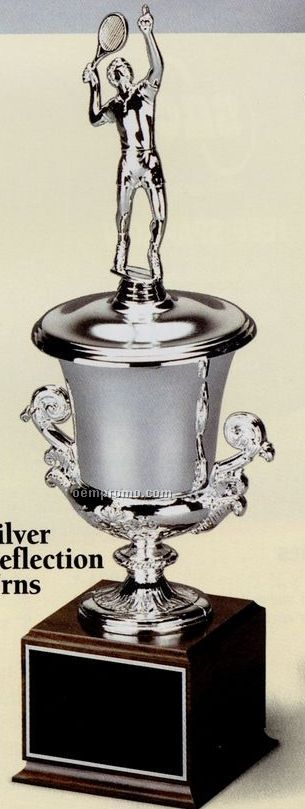 """Champagne Series Urn - Silver Reflection (15"""")"""
