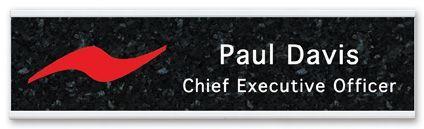 Full Color Nameplate With Aluminum Holder - Desk 2x8