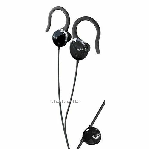 Iluv Ultra Compact In-ear Clips With Volume Control - Black