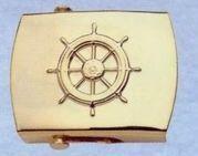 Plated Brass Money Clip (Ship's Wheel)