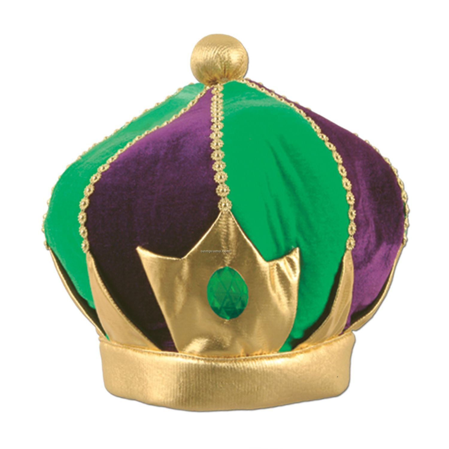 Plush Regal Mardi Gras Crown