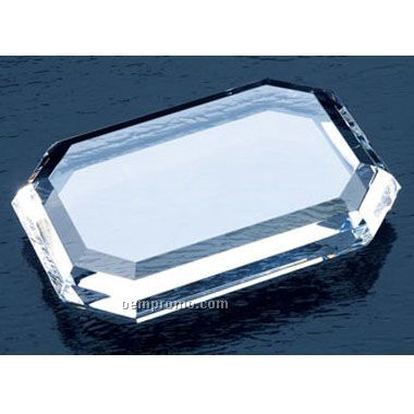 Rectangle Crystal Paperweight (Screened)