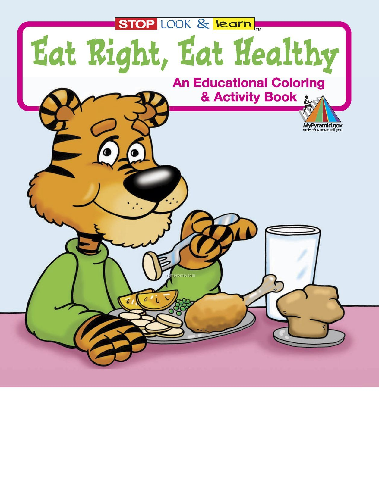 Eat Right, Eat Healthy Coloring Book Fun Pack