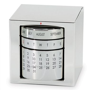 Polished Silver Perpetual Calendar (Screened)