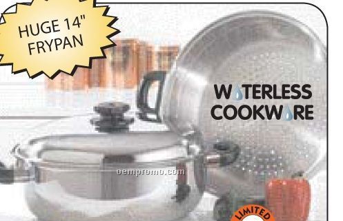 Precise Heat Surgical Stainless Steel Oversized Skillet, Steamer And Cover