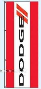 Double Face Dealer Rotator Drape Flags - Dodge