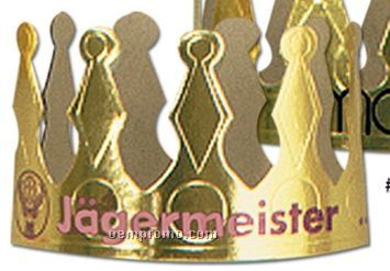"Imprinted Gold Foil 4"" Crown"