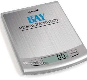 Passo High 22 Lb. Capacity Stainless Steel Digital Scale - Screen Printed